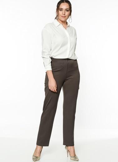 Yüksek Bel Kumaş Pantolon-Selen Plus